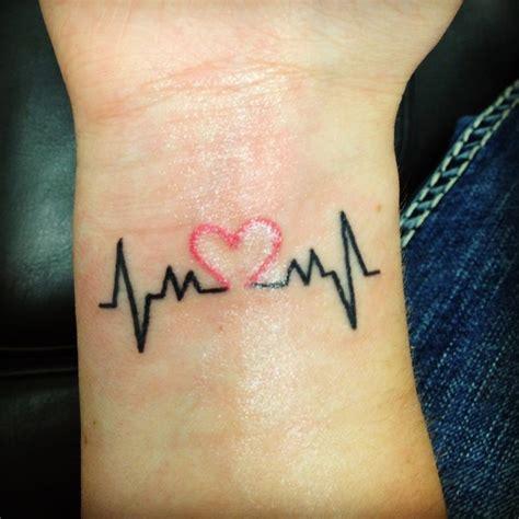 手腕处画上你的脉搏频率