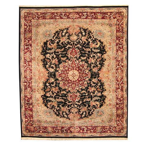 rug 12 x 14 indo knotted vegetable dye tabriz wool silk rug 12 x 14 8 herat rugs