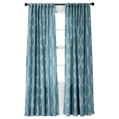 Turquoise Ikat Curtains Jacquard Ikat Window Panel In Teal Just Turned My Living Room Into A Whole New Space Wherever