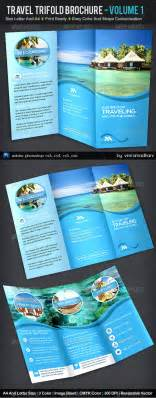 Travel Brochure Templates Free Download Travel Trifold Brochure Volume 1 Adobe Photoshop
