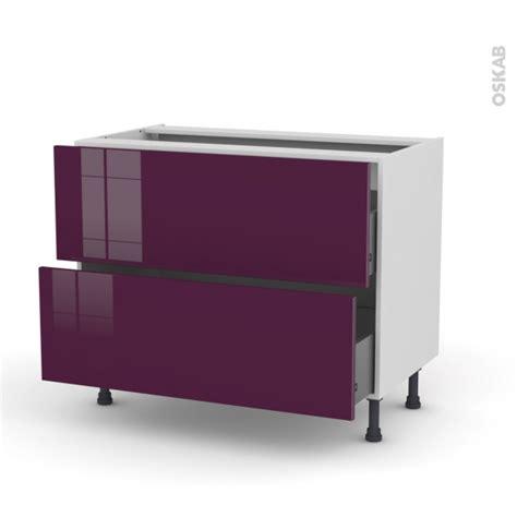 meuble de cuisine aubergine meuble de cuisine casserolier keria aubergine 2 tiroirs