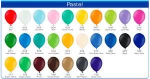 color colour tabella colori pastello palloncini newballoonstore milano vendita palloncini palloncini