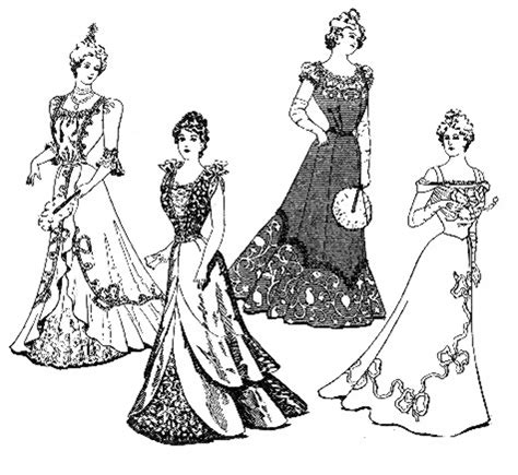 vintage dress coloring page coloring pages of victorian ladies 1899 1905 day and