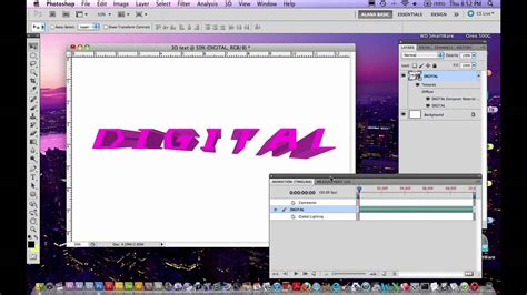 photoshop cs5 tutorial 3d text with a drop shadow youtube photoshop cs5 tutorial how to create and animate 3d text