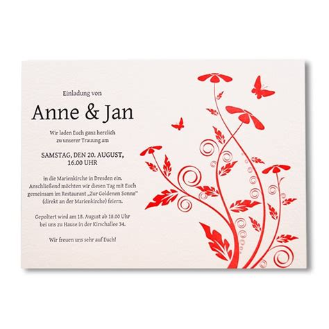 Hochzeitseinladung Text Kurz by Hochwertige Letterpress Hochzeitseinladung Quot Hello My Dear