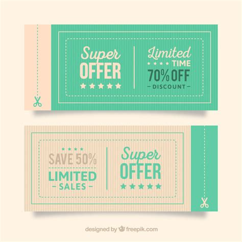 design icons voucher code coupon vectors photos and psd files free download