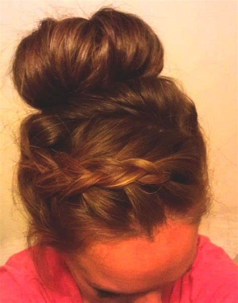 Large Bun With Braid | pretty big bun and a french braid luscious locks