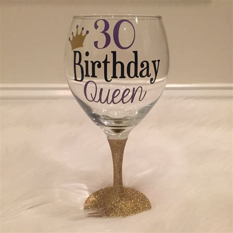 wine glass birthday 30th birthday queen wine glass birthday wine glass birthday