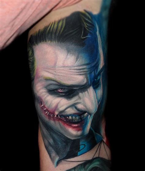 joker tattoo sleeve designs evil joker arm best design ideas