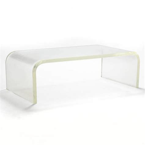 waterfall lucite coffee table 1970s lucite waterfall coffee table for sale at 1stdibs