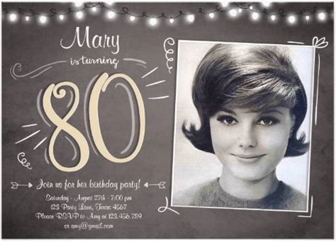 invitations for 80th birthday 80th birthday invitations 20 awesome invites for an 80th birthday