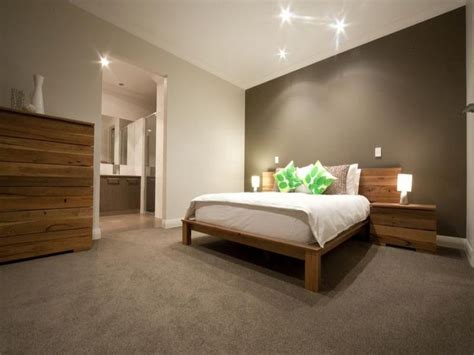 Bedroom Feature Wall Ideas Grey Wall With Wooden Bed Market St Master Bedroom