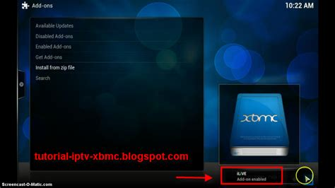 tutorial blogspot iptv ilive addon for xbmc manually install ilive for xbmc kodi