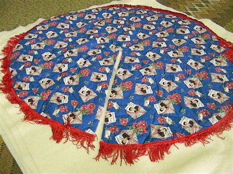 reversible christmas tree skirt with elvis christmas