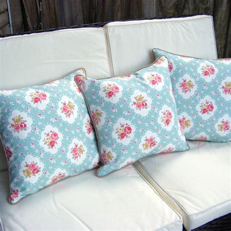 shabby chic floral rose cushion by lovely jubbly notonthehighstreet com