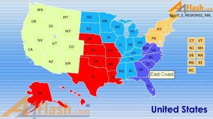 map of the 5 regions of the united states map of united states 5 regions