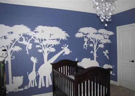 how to paint a wall mural in a bedroom large silhouette safari paint by number wall mural