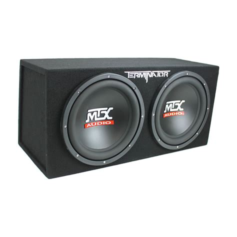 speaker box capacitor mtx tne212d 12 quot 1200w dual loaded subwoofer box 1500w wiring capacitor ebay