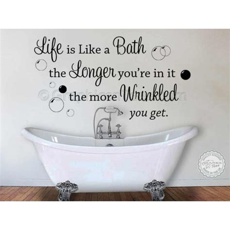 wall stickers bathroom is like a bath bathroom wall sticker quote decor decal