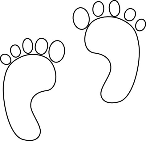 outline of footprint cliparts co