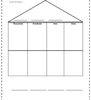 house chart template place value house template by leopold and lakesha