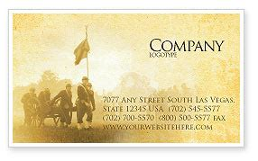 American Civil War Business Card Template Layout Download American Civil War Business Card Civil War Powerpoint Template
