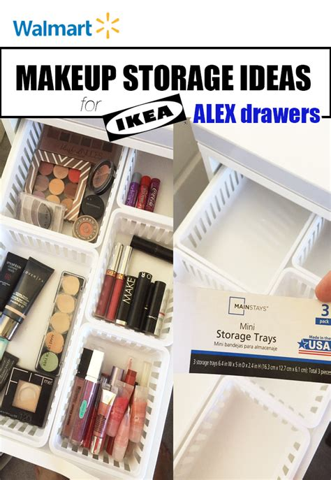 walmart make walmart makeup storage ideas for ikea alex drawers