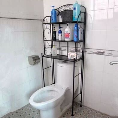 Cheap Iron Simple Modern Bathroom Toilet Rack Corner Rack Cheap Bathroom Shelves
