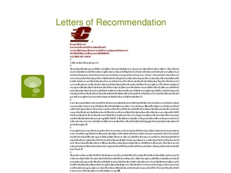 Letter Of Recommendation For College Portfolio Letter Of Recommendation Sle Coaching Position 5 Tips For Writing A Glowing Letter Of Re