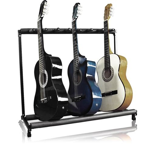 Guitar Rack Stand guitar stand 7 holder guitar folding stand rack band stage bass acoustic guitar ebay