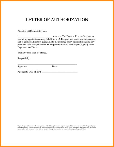 authorization letter us visa 7 letter of authority to act on behalf mystock clerk