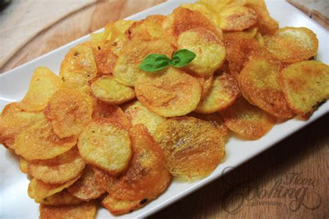 Handmade Chips - baked potato chips home cooking adventure