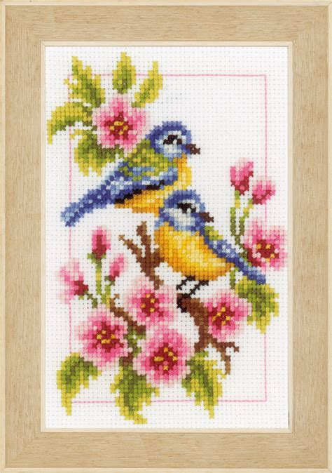 cross stitch kits counted cross stitch kit four seasons by vervaco 375100 create and craft