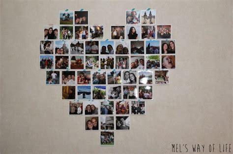 Comment Faire Un Coeur Avec Des Photos by D 233 Co Un Grand Coeur De Photos Carr 233 Es Sur Le Mur Du