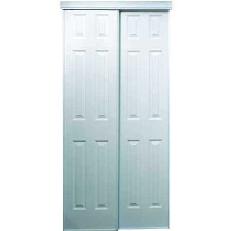 60 Closet Doors Truporte 60 In X 80 In 106 Series Composite White Interior Sliding Door 340011 The Home Depot