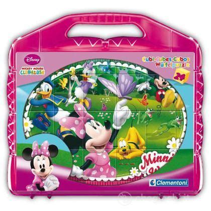 gioco la casa di topolino la casa di topolino minnie cubi 24 pz giochi e puzzle