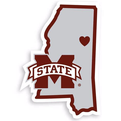 ncaa mississippi state bulldogs home state auto car window