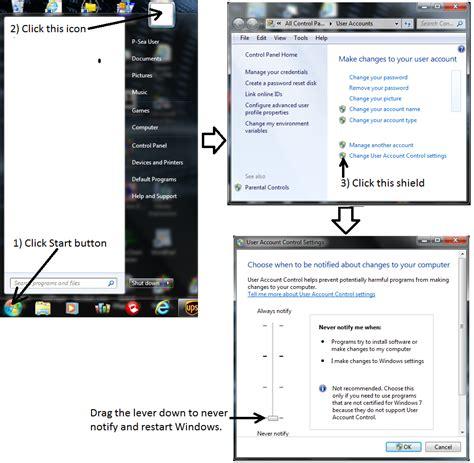 installing xp uac p sea software xp fix