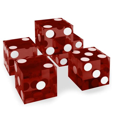 19mm Dice 19mm polished a grade serialized set of 5 casino