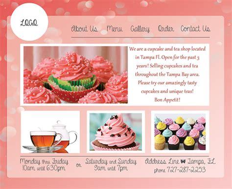 Pink Cupcake Website Template Design On Behance Cupcake Website Template