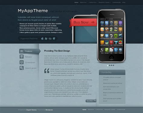 elegant themes mobile version top 10 professional themes of august 2010 flame scorpion