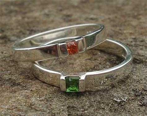 Handmade Silver Rings Uk - contemporary orange sapphire silver engagement ring