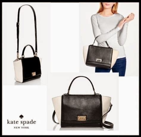 Tas Kate Spade Ks Small Rachelle White Black Original the chic sac kate spade outlet sale items deals