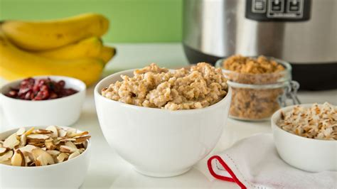 oatmeal toppings bar overnight oatmeal this make ahead slow cooker oatmeal and