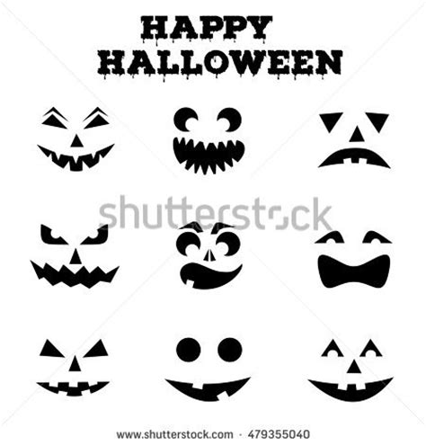 printable pumpkin eyes and mouth happy jack o lantern stock images royalty free images