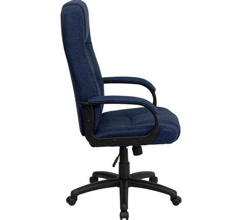High Back Office Chairs high back navy fabric executive office chair bt 9022 bl gg