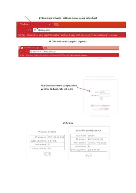 langkah langkah membuat hotspot mikrotik  virtualbox