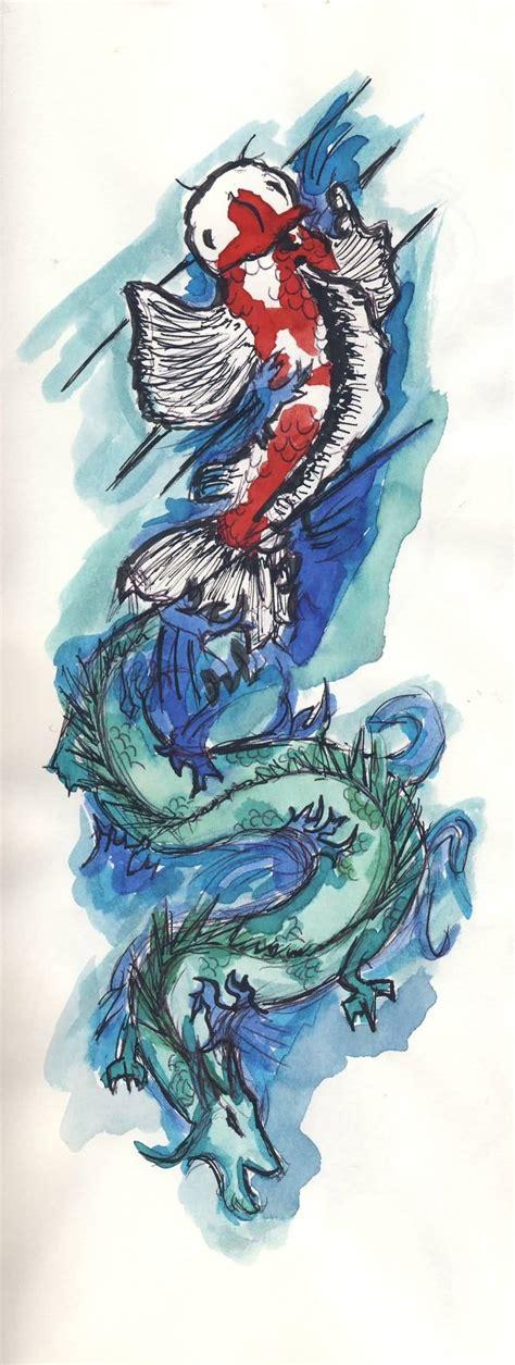 tattoo dragon fish blue dragon fish tattoo design sle