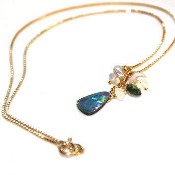 Handmade Gemstone Jewellery Australia - fiery multicolor australian black opal from fizzcandy