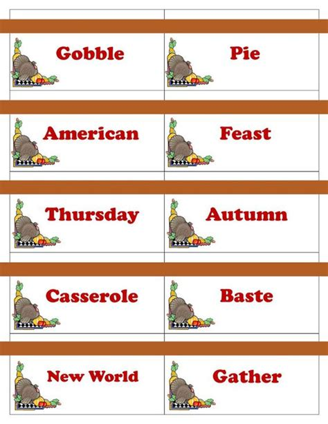printable thanksgiving trivia cards printable thanksgiving game cards for pictionary charades